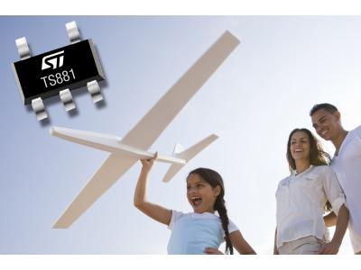 意法半导体推出高精度超低功耗电压比较器TS881