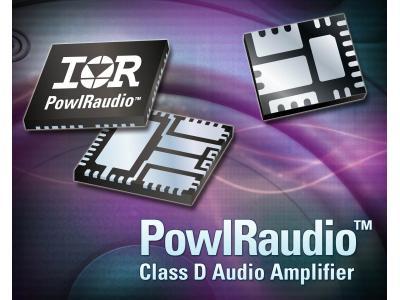 IR推出40V IR4311M 和IR4312M 扩充PowIRaudio集成式功率模块系列