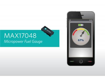 Maxim推出业内最简单的微功耗电量计MAX17048