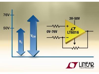 凌力尔特推出宽输入范围运算放大器LT6016和LT6017