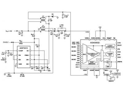 完整的5V单电源8通道多路复用数据采集系统