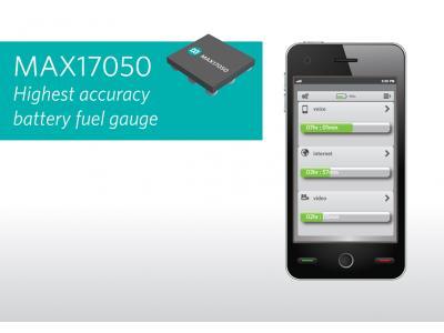 Maxim推出精度最高的电池电量计MAX17050