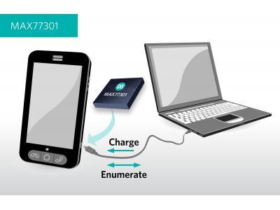 Maxim推出智能枚举电池充电器MAX77301