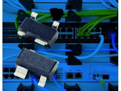 Littelfuse SR05系列瞬态抑制二极管阵列提供更低的动态电阻和箝位电压