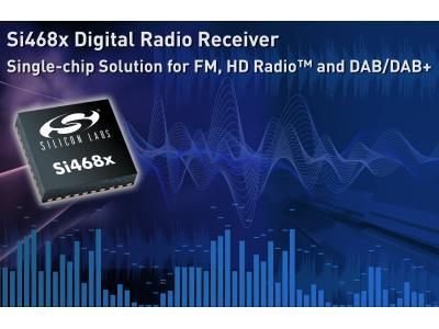 Silicon Labs针对消费电子市场 推出业内首款单芯片数字收音机接收器