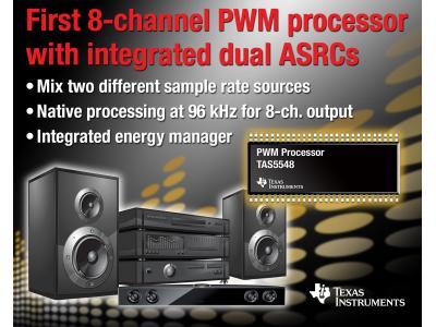 德州仪器推出8通道PWM音频处理器TAS5548