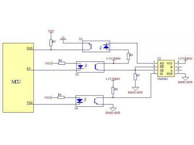 利用3.3V供电RS485接口实现远距离数据通信