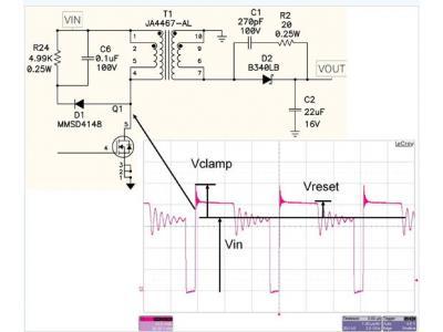 如何针对反向转换器的FET关断电压而进行缓冲