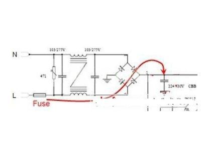 开机脉冲对LED照明保险丝的选型要求
