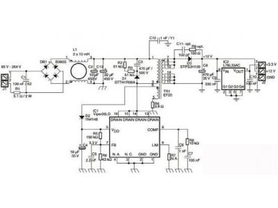 基于VIPER26LD的隔离反激AC/DC电源参考设计