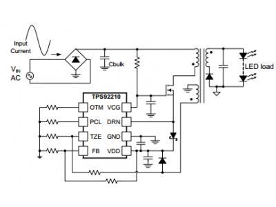 具有TRIAC亮度调节功能的7W单级PFC LED照明设计之一