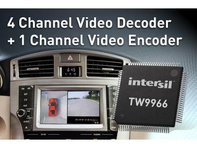 Intersil推出单芯片多通道视频解码器TW9966
