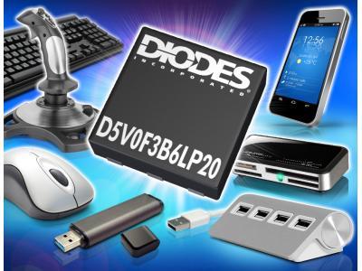Diodes推出 D5V0F3B6LP20二极管阵列器件
