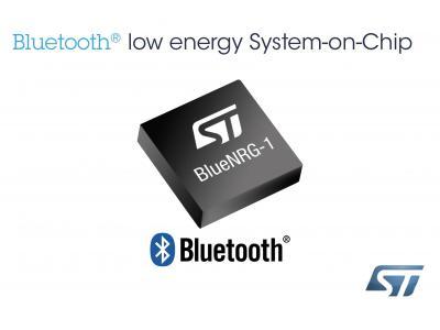 意法半导体(ST)推出新的低能耗蓝牙Bluetooth®单片解决方案