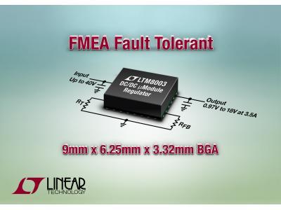 凌力尔特推出降压型 DC/DC µModule (微型模块) 稳压器 LTM8003