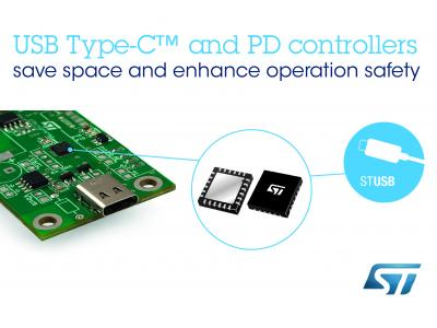 意法半导体发布稳健可靠的USB Type-C控制器,内置保护机制