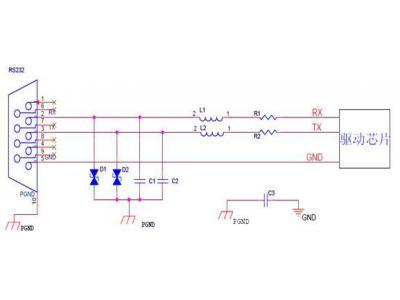 RS232端口静电和辐射防护设计方法