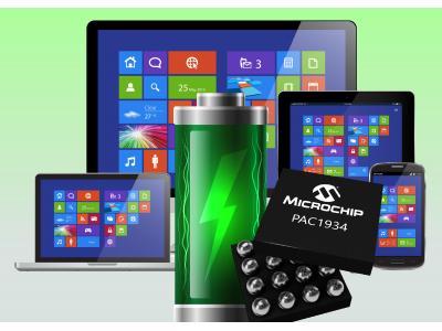 Microchip的新款功耗监控IC将Windows 10设备的软件功耗测量精度提高到99%