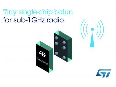 意法半导体sub-1GHz射频收发器单片巴伦 让天线匹配/滤波电路近乎消失