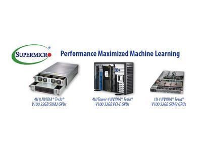 美超微在 GPU 技术大会展示新款可升级人工智能和机器学习系统