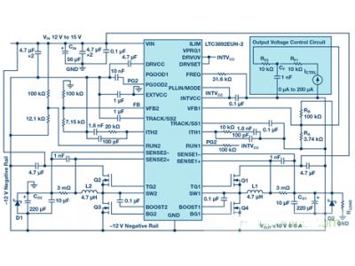 如何利用降压转换器产生双极性电源