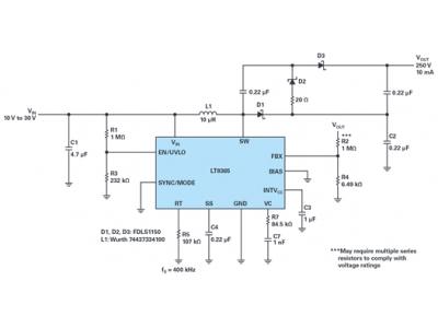 适用于通信应用的高压升压和反相转换器解决方案