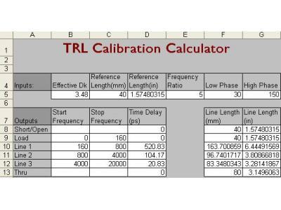 如何設計和驗證TRL校準件,TRL校準應如何操作?