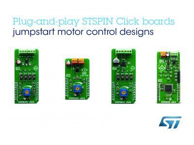 意法半导体推出STSPIN模块,为MikroElektronika Fusion forArm® Ecosystem开发