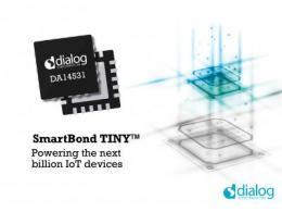 Dialog半导体推出超小蓝牙低功耗SoC及模块,助力连接未来十亿IoT设备