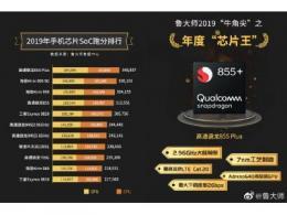鲁大师公布 2019 年度手机芯片王:骁龙 855 Plus 当之无愧