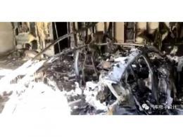 Taycan新车在美国停着起火