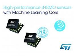 意法半导体推出高级iNEMO传感器,为工业和消费应用增添机器学习内核的能效优势