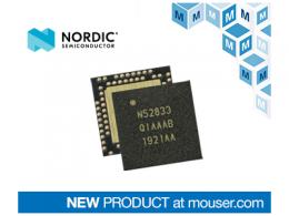 贸泽电子备货Nordic nRF52833多协议SoC  支持更高温度的专业照明设计