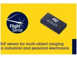 意法beplay下载地址推出最新的飞行时间传感器,为下一代工业和个人电子设备带来多目标测距功能