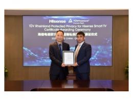 海信成为全球首家通过TUV莱茵产品隐私保护认证的电视品牌