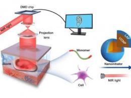 研究人员展示基于数字近红外光聚合3D打印,可以实现无创体内3D生物打印?