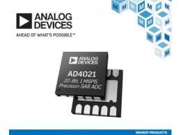 貿澤開售Analog Devices低功耗AD4021和AD4022差分SAR ADC