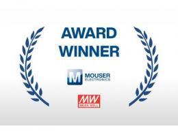 贸泽电子荣获MEAN WELL颁发的年度最佳分销商奖