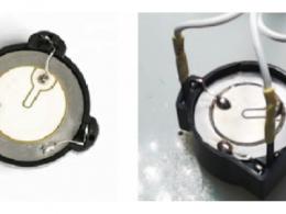 用于自激振荡电路的三个引脚压电陶瓷片