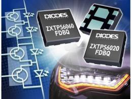Diodes Incorporated可优化PNP晶体管适用于车用矩阵式 LED 照明