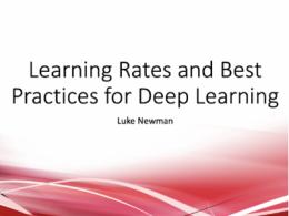 深度学习的学习率调节实践