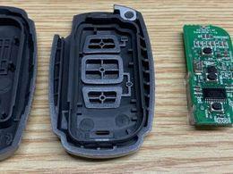 比亚迪车钥匙拆解,有个黑色元器件竟然查询不到?