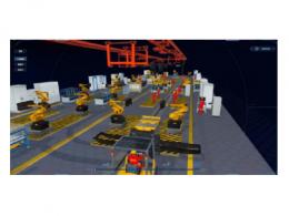 推动中国制造升级,汽车装配车间生产流水线3D可视化
