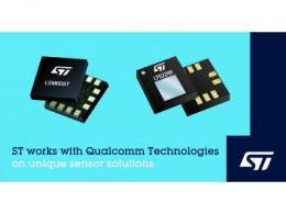 意法半导体与高通科技合作,为下一代移动设备、互联PC、物联网及可穿戴应用打造独有的传感器解决方案
