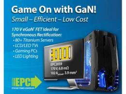宜普电源转换公司(EPC)推出170 V eGaN®FET,  实现优越的同步整流并极具成本效益