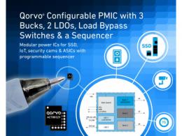 Qorvo® 推出最新一代多重时间可编程电源管理 IC