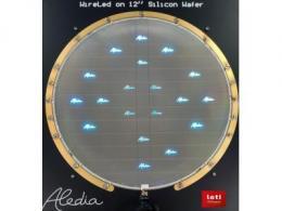 法国开发商Aledia宣布,它已使用CEA-Leti试生产线在300mm硅晶圆上生产了第一批纳米线芯片