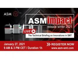 ASM通过直播展示2021年的新产品
