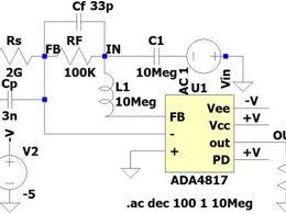跨阻放大器在光电传感电路中的稳定性分析与处理方法