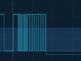 【测试】更新红外遥控信号读取,用示波器抓取红外遥控器NEC信号